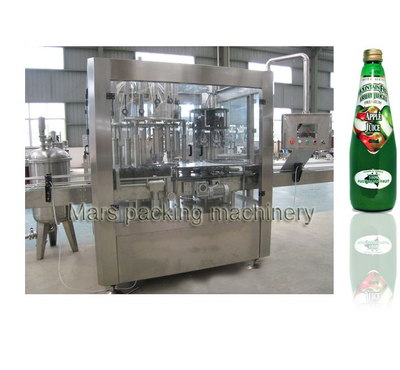 Glass Bottle Juice Filling Capping 2 In 1 Machine
